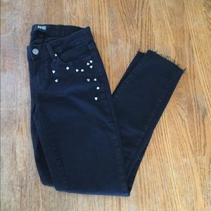 "Paige ""Verdugo Ankle"" Black Skinny Jeans"